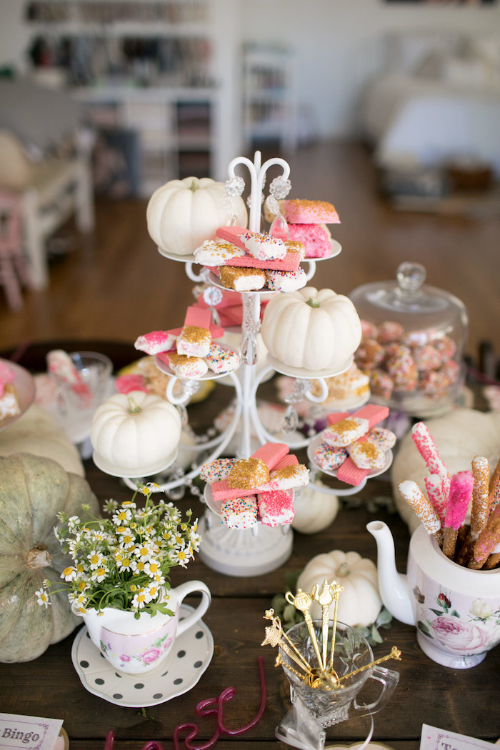 Pumpkins and wafers from a Chic Fall Garden Tea Party on Kara's Party Ideas   KarasPartyIdeas.com (26)