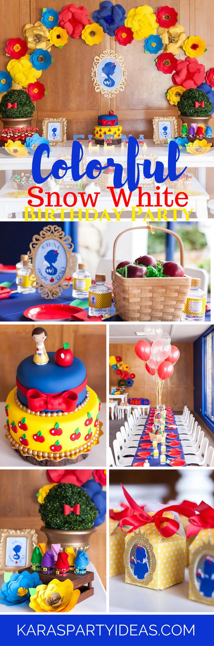 Karas Party Ideas Colorful Snow White Birthday Party Karas Party