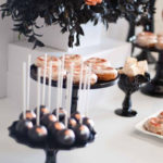 Copper, Black & White Halloween Party on Kara's Party Ideas | KarasPartyIdeas.com (2)