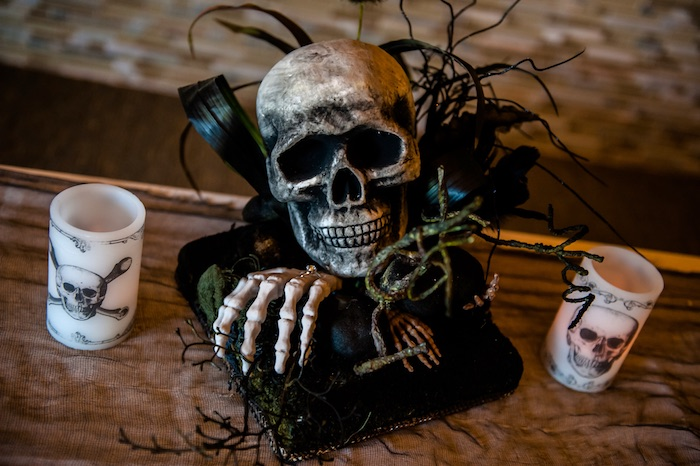 "Skull from a Corpse Bride ""Vow-lloween"" Wedding Anniversary Party on Kara's Party Ideas 