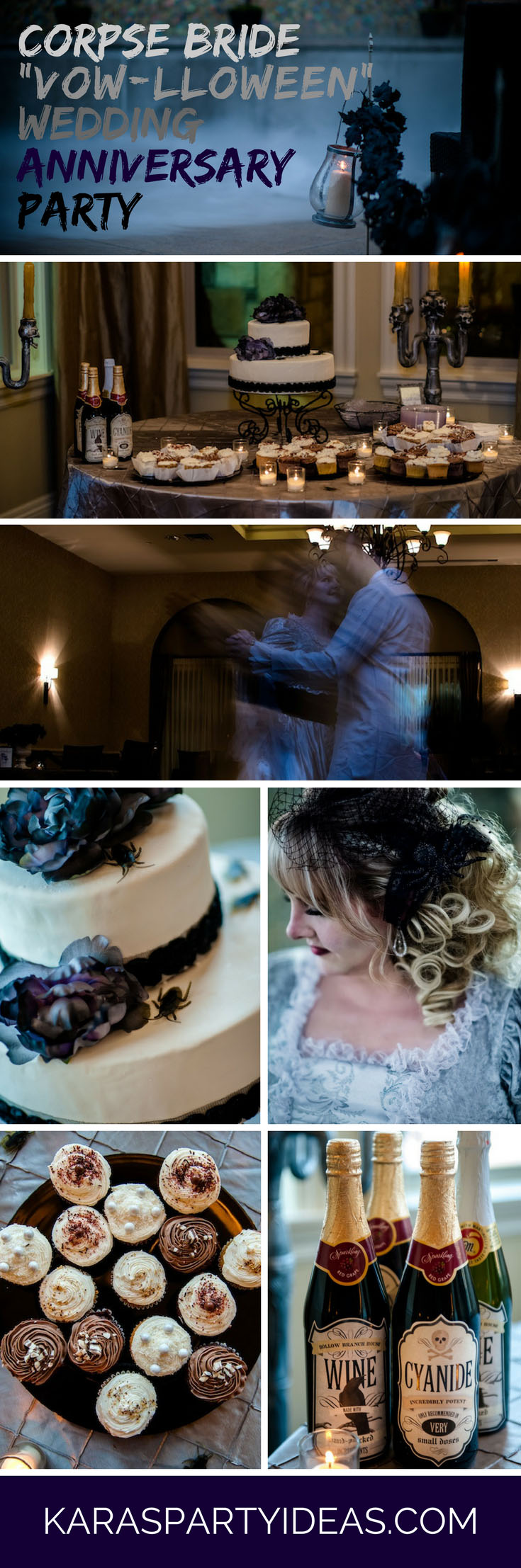 Corpse Bride Vow-lloween Wedding Anniversary Party via Kara's Party Ideas - KarasPartyIdeas.com