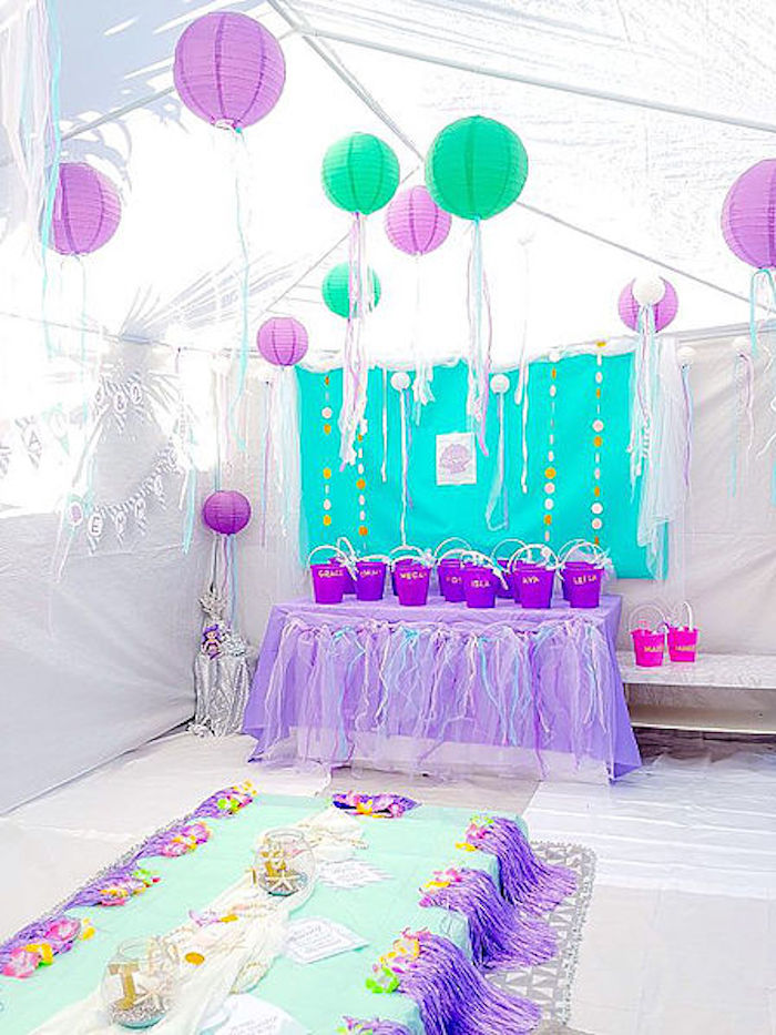 DIY Island Mermaid Birthday Party on Kara's Party Ideas | KarasPartyIdeas.com (7)