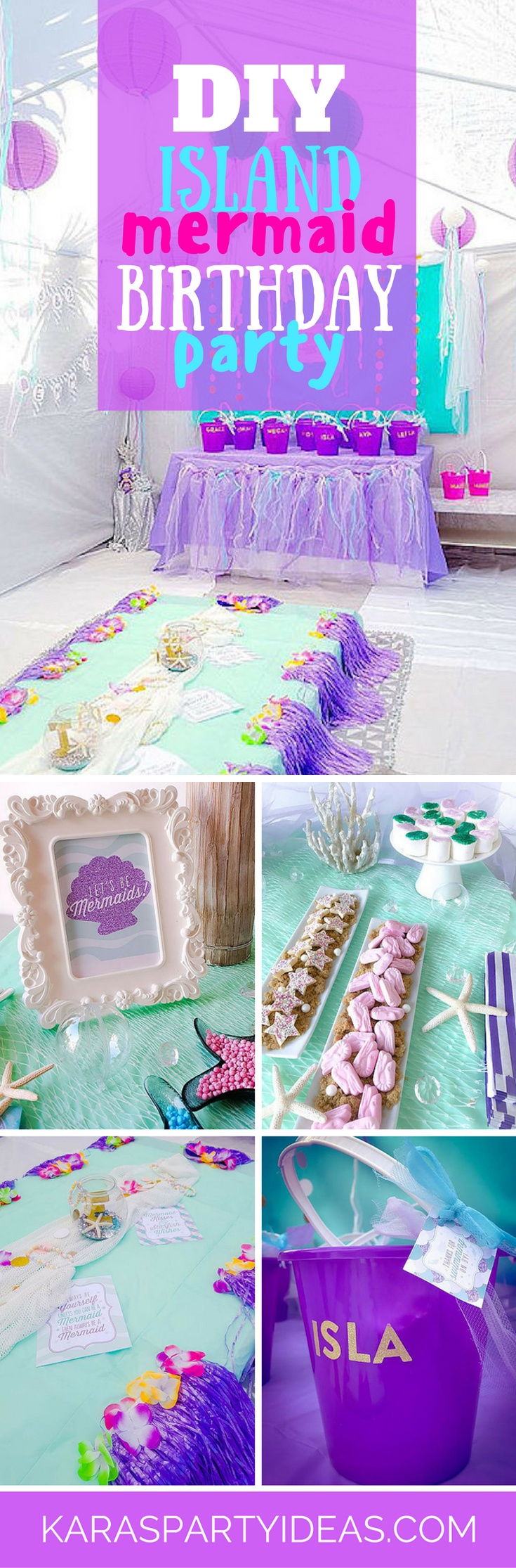 DIY Island Mermaid Birthday Party via Kara's Party Ideas - KarasPartyIdeas.com