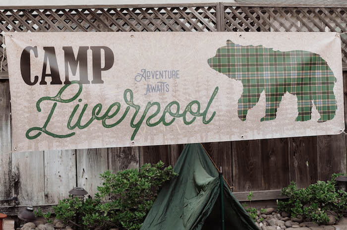 Camp Liverpool Party Banner from an End of Summer Retro Camping Party on Kara's Party Ideas | KarasPartyIdeas.com (34)