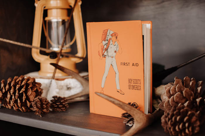 Vintage First Aid book from an End of Summer Retro Camping Party on Kara's Party Ideas   KarasPartyIdeas.com (29)