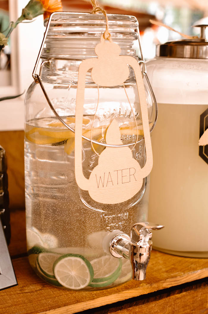 Beverage dispenser from an End of Summer Retro Camping Party on Kara's Party Ideas | KarasPartyIdeas.com (19)