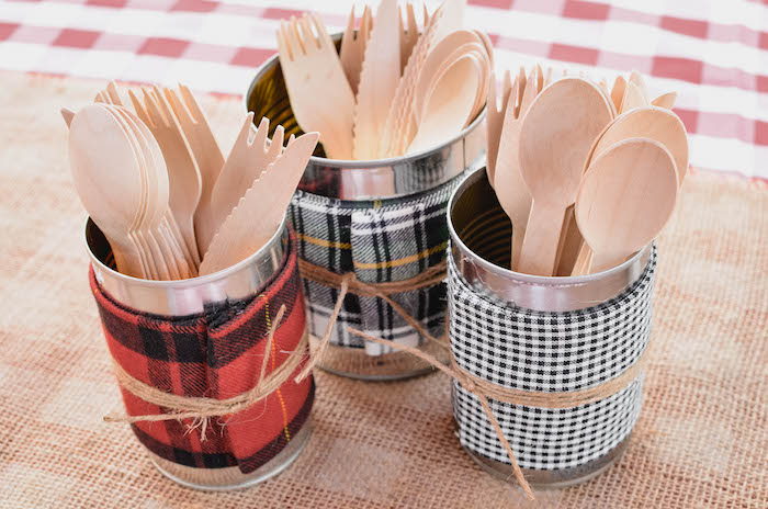 Utensils from an End of Summer Retro Camping Party on Kara's Party Ideas | KarasPartyIdeas.com (15)