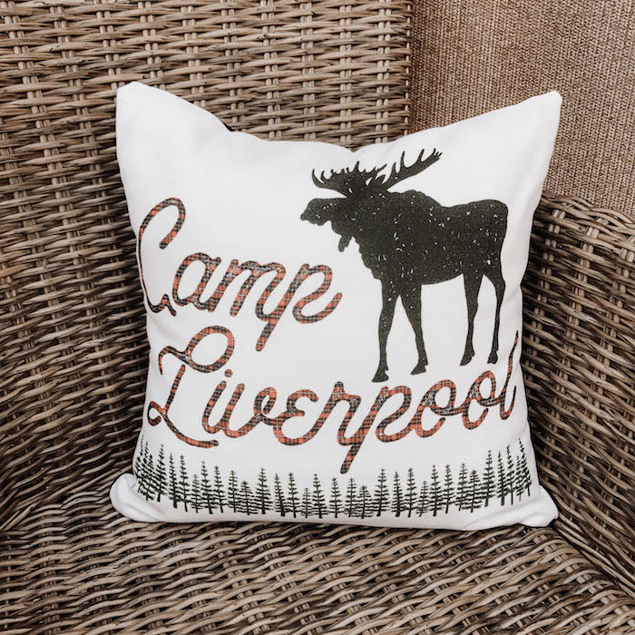 Camp Liverpool Pillow from an End of Summer Retro Camping Party on Kara's Party Ideas | KarasPartyIdeas.com (5)