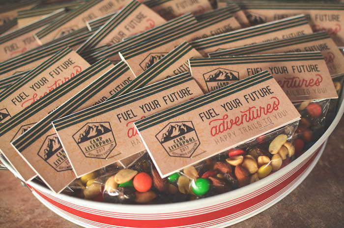 Trail Mix Favors From An End Of Summer Retro Camping Party On Karas Ideas