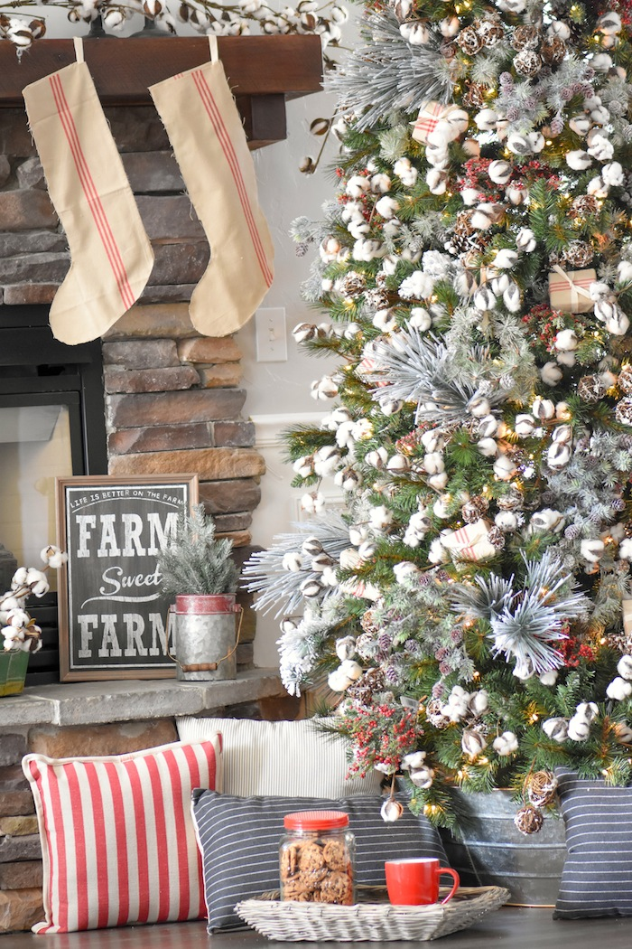farmhouse christmas tree modern farmhouse holiday decorating 2018 karas party ideas karaspartyideascom - Michaels Christmas Decorations 2017