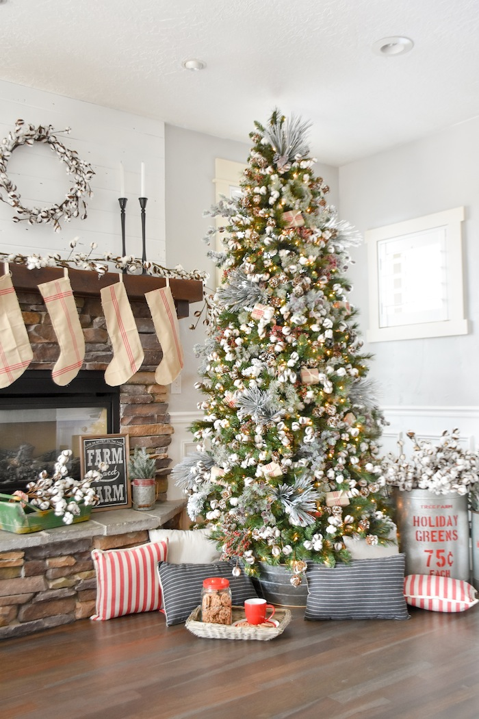 Kara s party ideas farmhouse christmas tree michaels