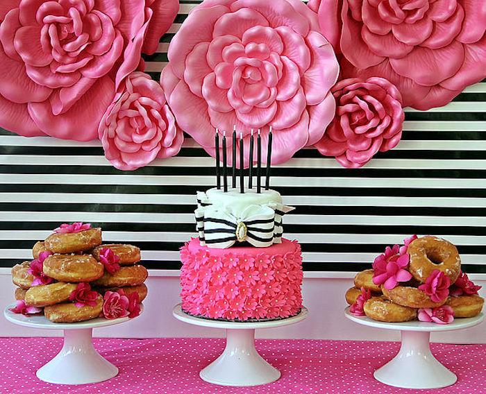 Cake table from a Fashion Show Birthday Party on Kara's Party Ideas | KarasPartyIdeas.com (25)