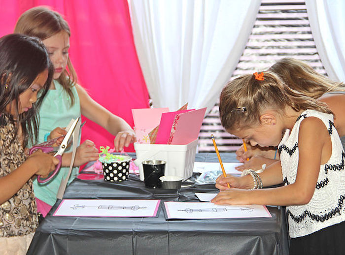 Design Station from a Fashion Show Birthday Party on Kara's Party Ideas | KarasPartyIdeas.com (20)