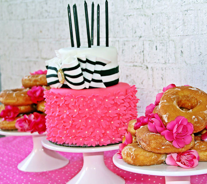 Cakescape from a Fashion Show Birthday Party on Kara's Party Ideas | KarasPartyIdeas.com (7)
