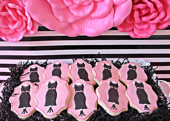 Dress Form Cookies from a Fashion Show Birthday Party on Kara's Party Ideas | KarasPartyIdeas.com (29)
