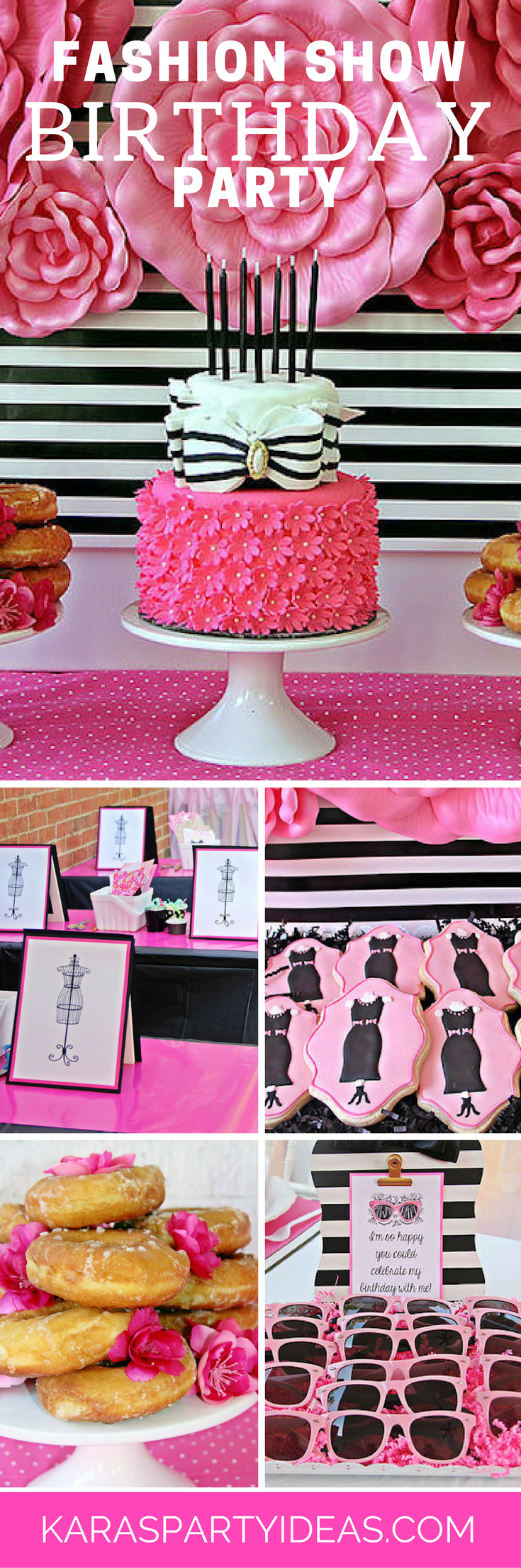 Fashion Show Birthday Party via Kara's Party Ideas - KarasPartyIdeas.com