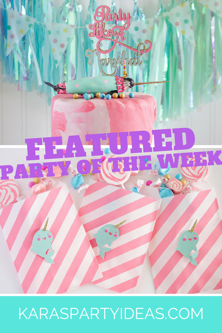 Featured Party of the Week via Kara's Party Ideas - Narwhal Birthday Party! KarasPartyIdeas.com