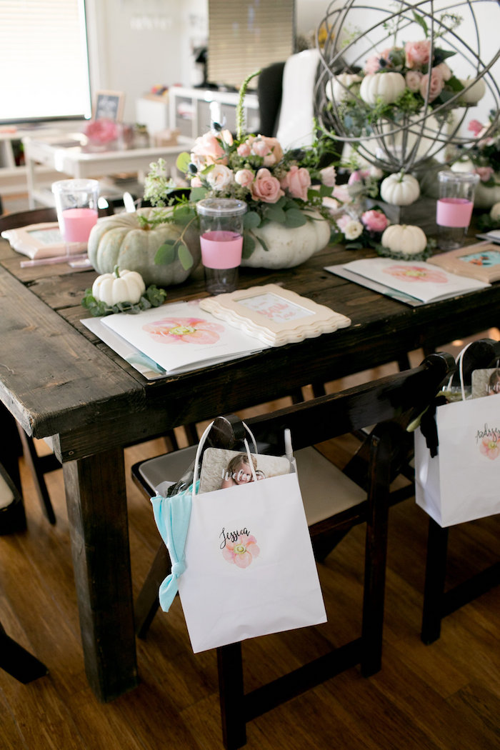 Place setting from a Floral Fall Baby Shower on Kara's Party Ideas | KarasPartyIdeas.com (15)