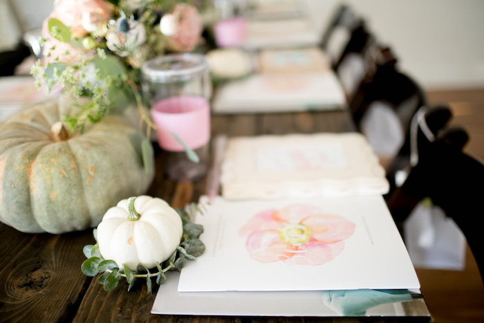 Table detail from a Floral Fall Baby Shower on Kara's Party Ideas | KarasPartyIdeas.com (9)