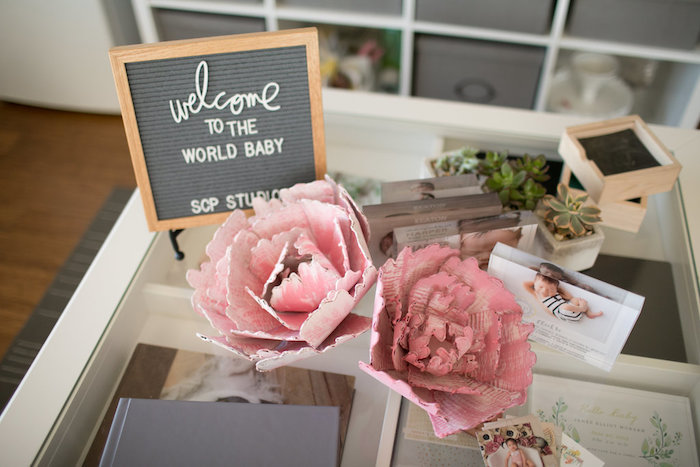 Welcome table from a Floral Fall Baby Shower on Kara's Party Ideas | KarasPartyIdeas.com (7)