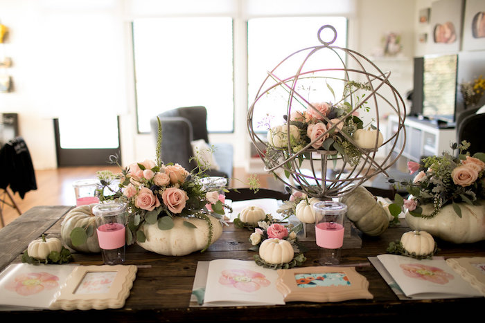 Tablescape from a Floral Fall Baby Shower on Kara's Party Ideas | KarasPartyIdeas.com (6)