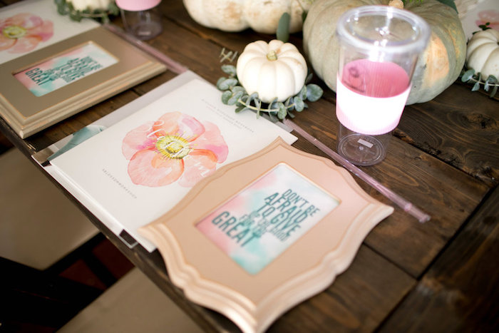 Place setting from a Floral Fall Baby Shower on Kara's Party Ideas | KarasPartyIdeas.com (27)