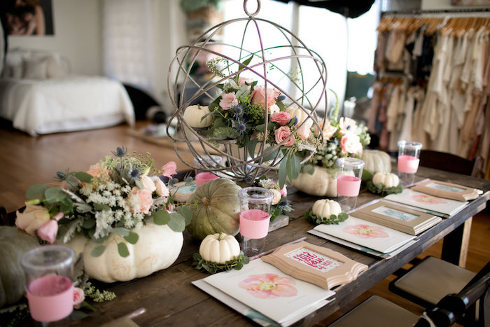 Guest tablescape from a Floral Fall Baby Shower on Kara's Party Ideas | KarasPartyIdeas.com (21)