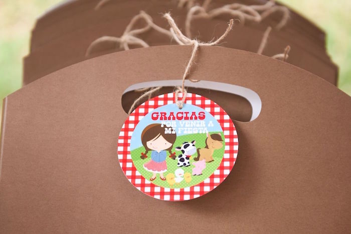 Farm favor tag from a Floral Farm Birthday Party on Kara's Party Ideas | KarasPartyIdeas.com (14)