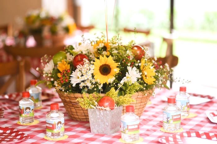 Guest table from a Floral Farm Birthday Party on Kara's Party Ideas | KarasPartyIdeas.com (12)