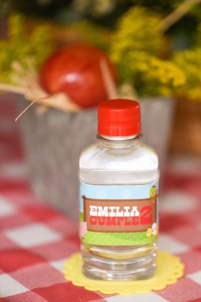 Farm-inspired drink bottle from a Floral Farm Birthday Party on Kara's Party Ideas | KarasPartyIdeas.com (10)