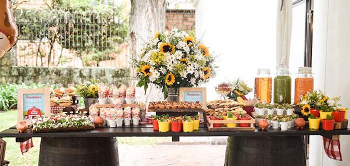 Floral Farm Birthday Party on Kara's Party Ideas | KarasPartyIdeas.com (3)