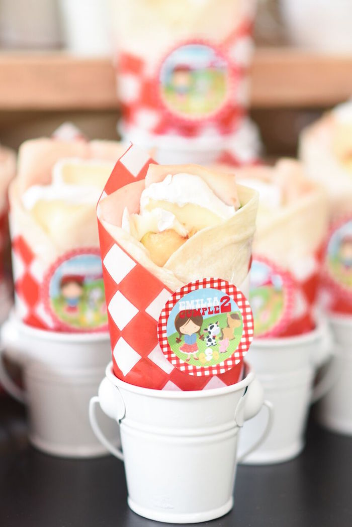 Bucket wraps from a Floral Farm Birthday Party on Kara's Party Ideas | KarasPartyIdeas.com (18)