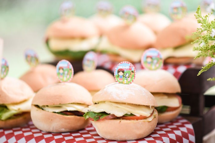 Sandwiches from a Floral Farm Birthday Party on Kara's Party Ideas | KarasPartyIdeas.com (17)