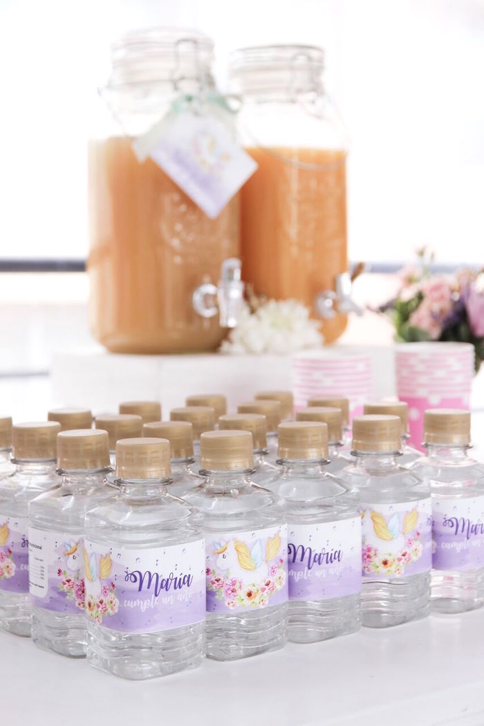 Drinks from a Floral Unicorn Birthday Party on Kara's Party Ideas | KarasPartyIdeas.com (17)