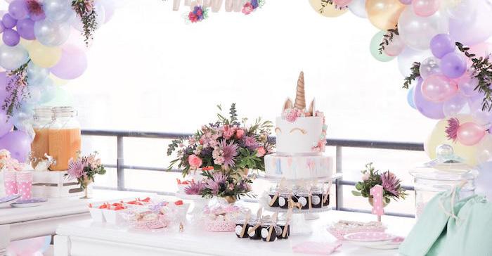 Kara S Party Ideas Floral Unicorns Birthday Party Kara S