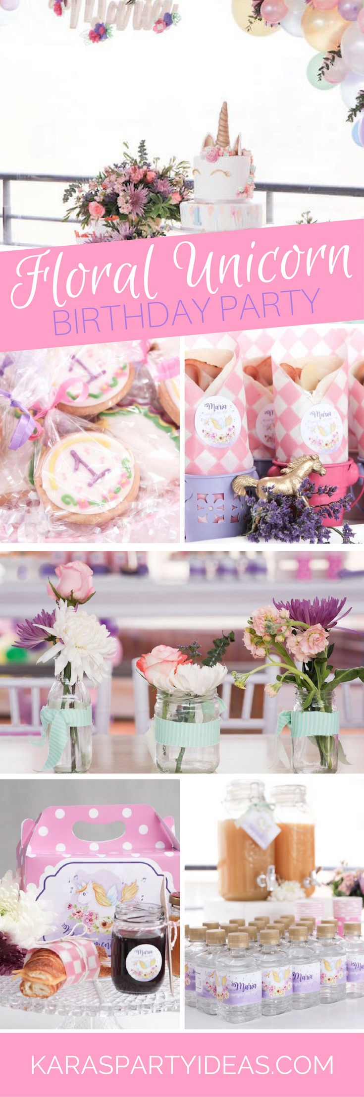Floral Unicorn Birthday Party via Kara's Party Ideas - KarasPartyIdeas.com
