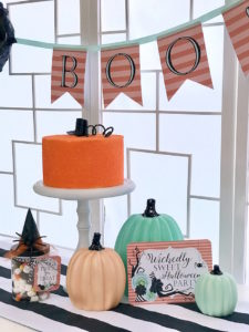 Pumpkin cake from a Wickedly Sweet Halloween Costume Party on Kara's Party Ideas | KarasPartyIdeas.com (32)