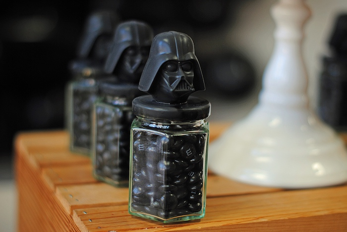Darth Vader candy jars from a Galactic Star Wars Birthday Party on Kara's Party Ideas | KarasPartyIdeas.com (24)