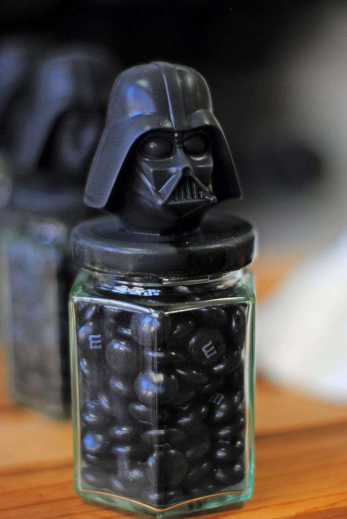 Darth Vader candy jar from a Galactic Star Wars Birthday Party on Kara's Party Ideas | KarasPartyIdeas.com (23)