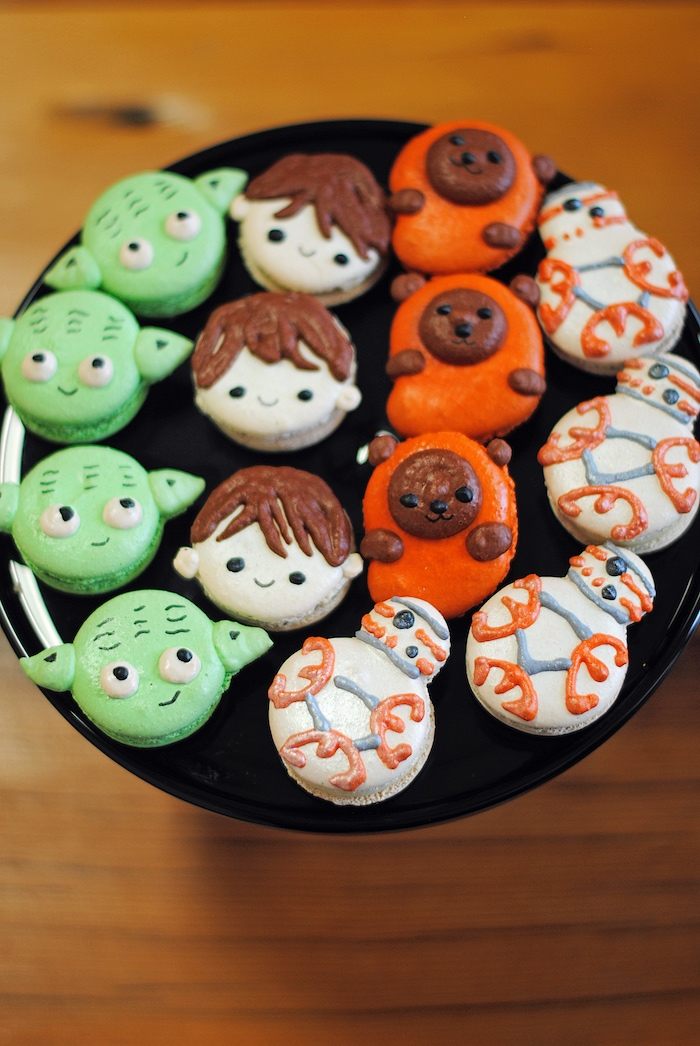 Star Wars macarons from a Galactic Star Wars Birthday Party on Kara's Party Ideas | KarasPartyIdeas.com (22)
