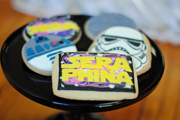 Cookies from a Galactic Star Wars Birthday Party on Kara's Party Ideas | KarasPartyIdeas.com (21)