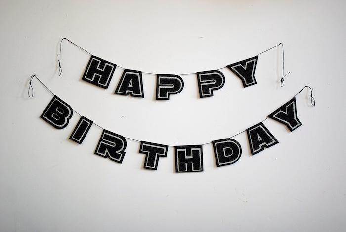 Happy Birthday Banner from a Galactic Star Wars Birthday Party on Kara's Party Ideas | KarasPartyIdeas.com (20)