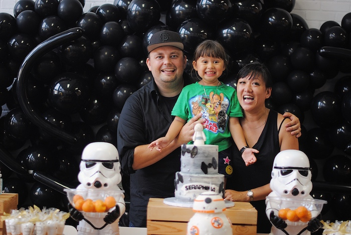Cakescape from a Galactic Star Wars Birthday Party on Kara's Party Ideas | KarasPartyIdeas.com (14)