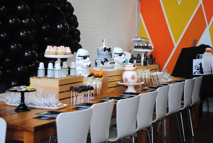 Star Wars Party Table from a Galactic Star Wars Birthday Party on Kara's Party Ideas | KarasPartyIdeas.com (12)