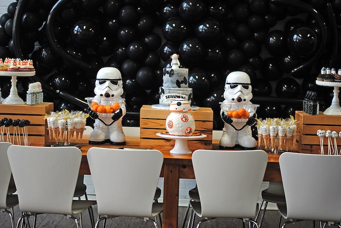 Star Wars Party Table from a Galactic Star Wars Birthday Party on Kara's Party Ideas | KarasPartyIdeas.com (11)