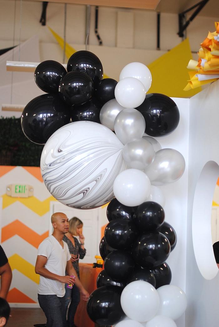 Balloon installation from a Galactic Star Wars Birthday Party on Kara's Party Ideas | KarasPartyIdeas.com (10)