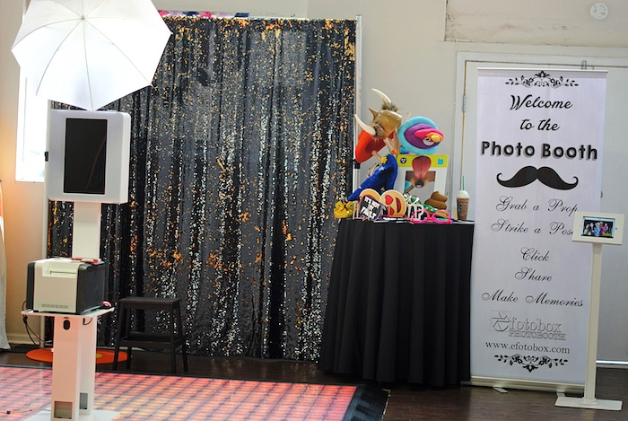Galaxy photo booth from a Galactic Star Wars Birthday Party on Kara's Party Ideas | KarasPartyIdeas.com (9)