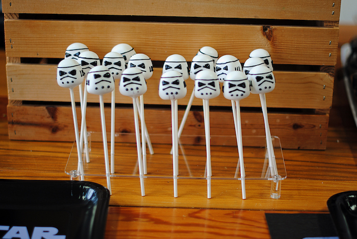 Storm Trooper cake pops from a Galactic Star Wars Birthday Party on Kara's Party Ideas | KarasPartyIdeas.com (32)