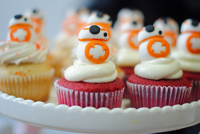 BB8 Droid Cupcakes from a Galactic Star Wars Birthday Party on Kara's Party Ideas | KarasPartyIdeas.com (30)