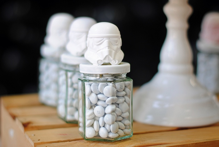 Storm Trooper candy jars from a Galactic Star Wars Birthday Party on Kara's Party Ideas | KarasPartyIdeas.com (28)